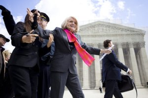 Edith Windsor, the plaintiff in the DOMA case,