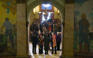 Ceremony at the State Capitol building in Denver.