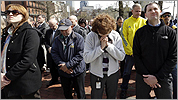 The moment of silence at 2:50 pm April 22, 2013.  Copley Square.