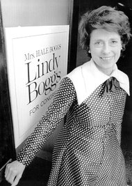 Mrs. Boggs during her Congressional campaign in 1973