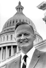 Harry F. Byrd  in 1965, when he was appointed to his father's seat