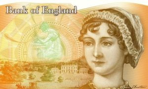 The Bank of England's design for a £10 note featuring Jane Austen