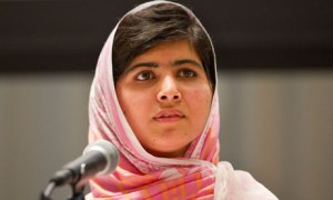 Malala Yousafzai speaking at the United Nations
