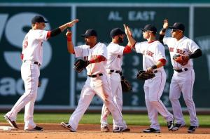 The Red Sox head into the post-All-Star Game portion of the season with a 2.5-game lead in the AL East.