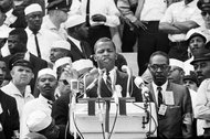 John Lewis at the Lincoln Memorial, 1963