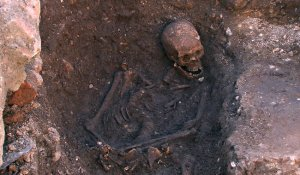 The skeleton of King Richard III was unearthed beneath a municipal parking lot late last year.