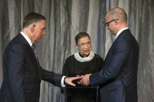 Justice Ginsburg performs an historic marriage ceremony.