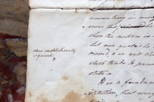The letter, which Ms. Gruchow found last summer, was written in 1775 by the New York jurist Robert R. Livingston.