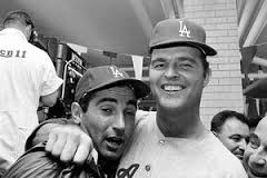 Sandy Koufax and Don Drysdale after winning the 1965 World Series