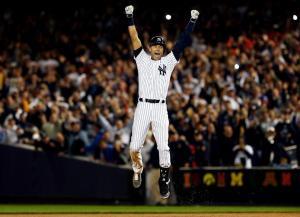 Jeter celebrates
