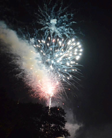 Fireworks over College Creek, St. John's College, Annapolis 2014 Homecoming.