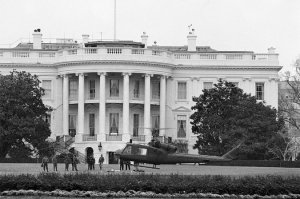 A helicopter stolen from nearby Fort Meade by an Army private landed on the South Lawn of the White House in 1974.