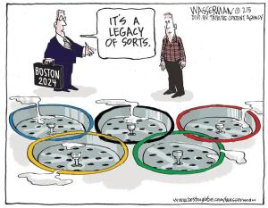 Boston Globe cartoon by Dan Wasserman.